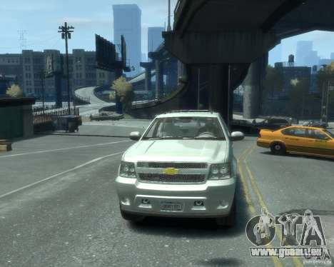 Chevrolet Avalanche Version Pack 1.0 pour GTA 4 Vue arrière