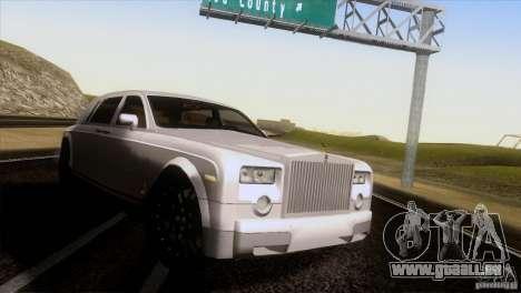 Rolls Royce Phantom Hamann für GTA San Andreas zurück linke Ansicht