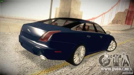 Jaguar XJ 2010 V1.0 pour GTA San Andreas vue de dessus
