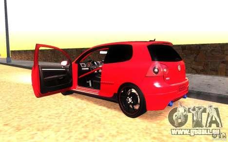 VolksWagen Golf GTI MK5 für GTA San Andreas Innenansicht