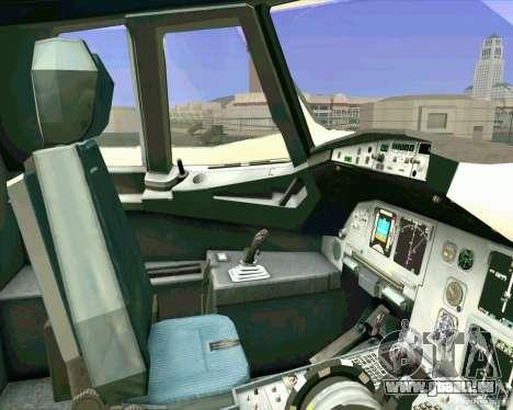 Airbus A-320 compagnie aérienne UTair pour GTA San Andreas vue de côté