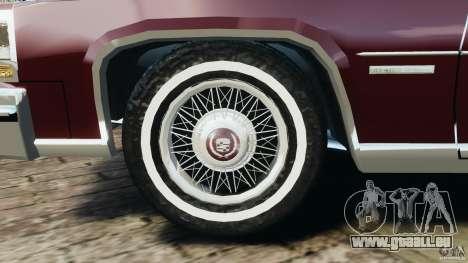 Cadillac Fleetwood Brougham Delegance 1986 pour GTA 4 est une vue de dessous