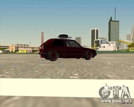 VW Golf II Shadow Crew pour GTA San Andreas vue de dessous