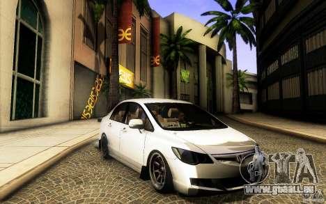 Honda Civic FD BlueKun pour GTA San Andreas laissé vue