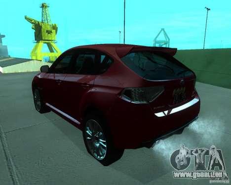 Subaru Impreza WRX STI Stock pour GTA San Andreas laissé vue