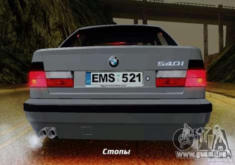 BMW E34 540i Tunable pour GTA San Andreas salon