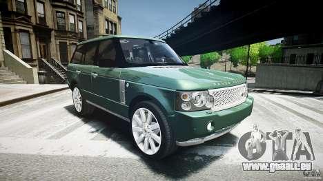 Range Rover Supercharged v1.0 pour GTA 4 Vue arrière