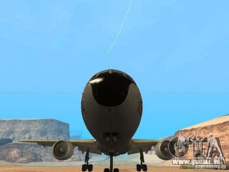 Boeing KC767 U.S Air Force pour GTA San Andreas vue arrière