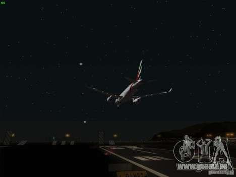 Airbus A350-900 Emirates für GTA San Andreas obere Ansicht
