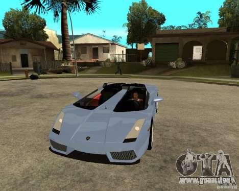 Lamborghini Concept-S für GTA San Andreas Rückansicht