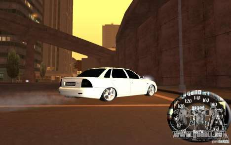 LADA priora, c. 2 pour GTA San Andreas sur la vue arrière gauche