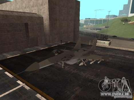 MIG-29 de la COD MW2 pour GTA San Andreas laissé vue