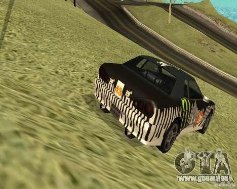 Monster Energy Vinyl pour GTA San Andreas sur la vue arrière gauche