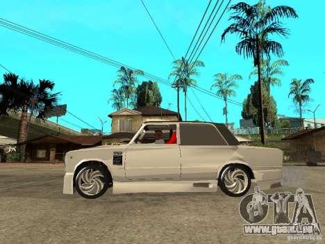 Vaz 2101 voiture Tuning Style pour GTA San Andreas laissé vue
