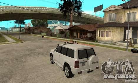 Nissan Patrol 2005 für GTA San Andreas zurück linke Ansicht