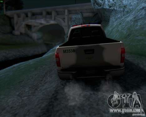 Chevrolet Silverado Police pour GTA San Andreas vue de côté