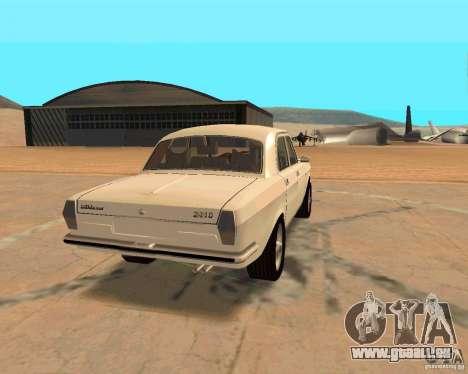 GAZ Volga 2410 Hot Road für GTA San Andreas Innenansicht