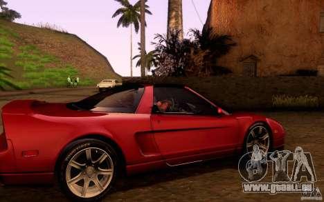 Acura NSX Targa pour GTA San Andreas vue intérieure