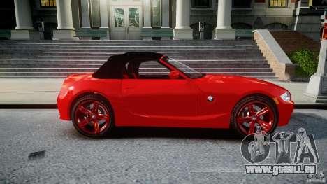 BMW Z4 Roadster 2007 i3.0 Final pour GTA 4 est un côté