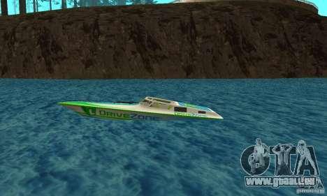 Speed Motorboat pour GTA San Andreas laissé vue