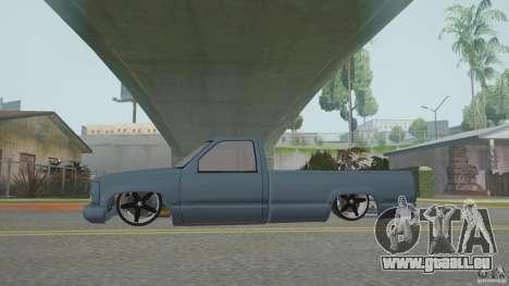 Chevrolet Silverado Mini Truckin 1996 pour GTA San Andreas vue de droite