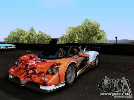 Pagani Zonda EX-R für GTA San Andreas obere Ansicht