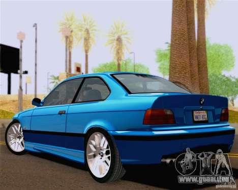 BMW M3 E36 New Wheels pour GTA San Andreas vue de droite