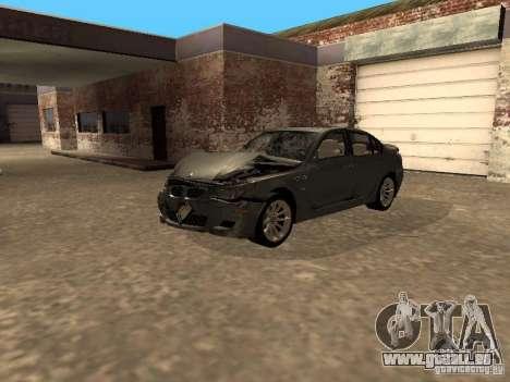BMW M5 E60 2009 v2 pour GTA San Andreas salon