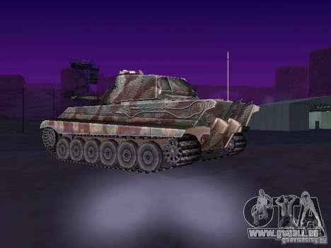 Pzkpfw VII Tiger II pour GTA San Andreas sur la vue arrière gauche