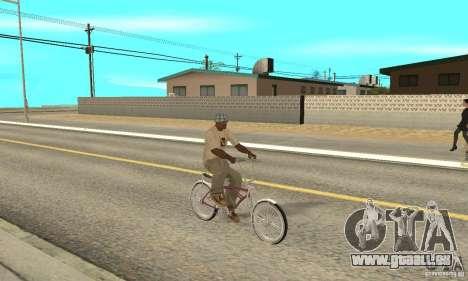 Lowrider Bicycle pour GTA San Andreas vue de droite