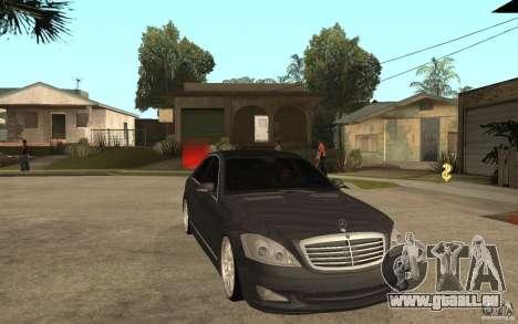 Mercedes-Benz S500 pour GTA San Andreas vue arrière