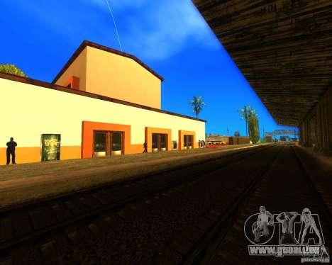 Einem belebten Bahnhof in Los Santos für GTA San Andreas