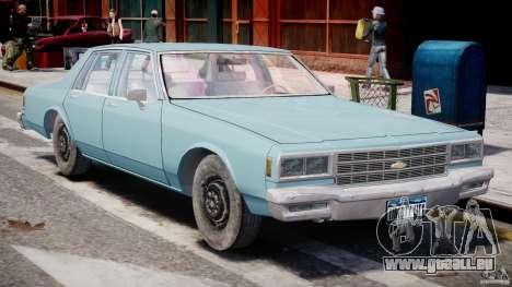 Chevrolet Impala 1983 [Final] für GTA 4 Seitenansicht