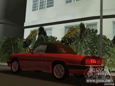 Alfa Romeo Spider 1986 pour GTA Vice City sur la vue arrière gauche