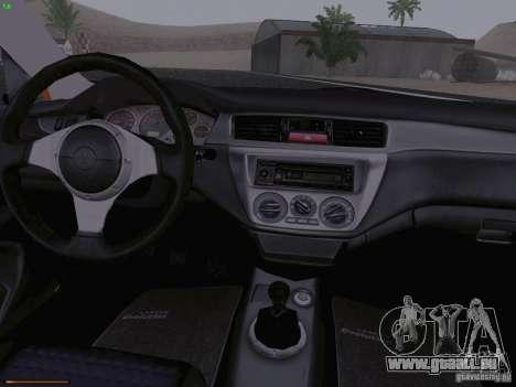 Mitsubishi Lancer Evolution VIII für GTA San Andreas Seitenansicht