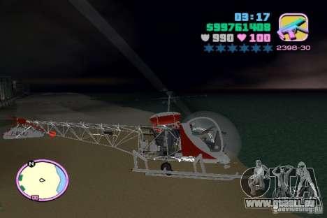Bell 47 pour une vue GTA Vice City de l'intérieur