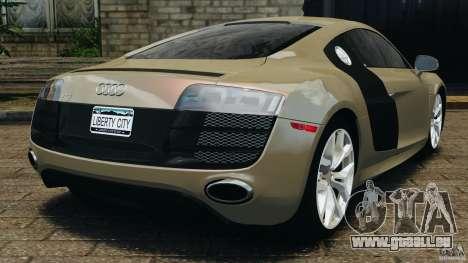 Audi R8 V10 2010 für GTA 4 hinten links Ansicht