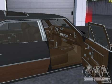 Oldsmobile Vista Cruiser 1972 pour GTA San Andreas vue intérieure
