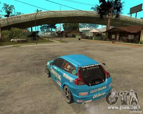 VOLVO C30 STCC pour GTA San Andreas laissé vue