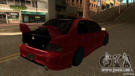 Mitsubishi Lancer Evo 8 Street Drift pour GTA San Andreas vue de droite