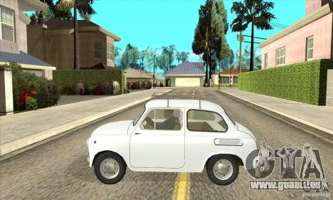 ZAZ-965 pour GTA San Andreas laissé vue