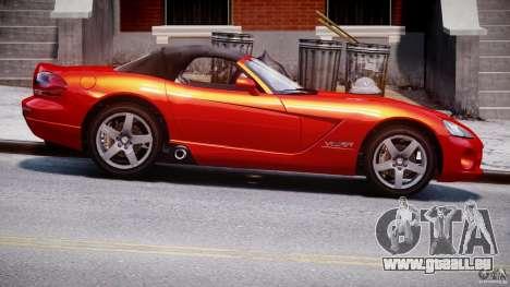 Dodge Viper SRT-10 2003 1.0 pour GTA 4 Vue arrière