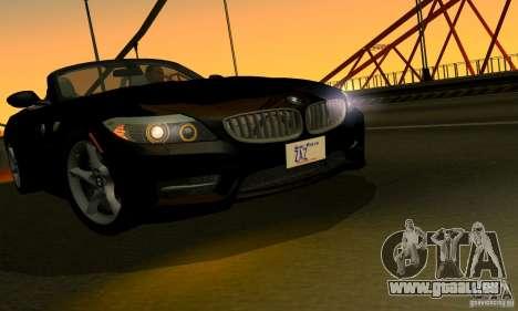 BMW Z4 2010 pour GTA San Andreas vue de côté