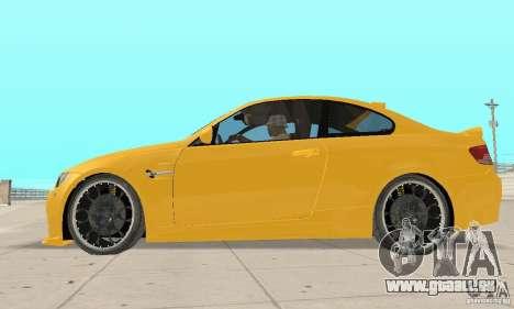 BMW M3 2008 Hamann v1.2 pour GTA San Andreas vue arrière