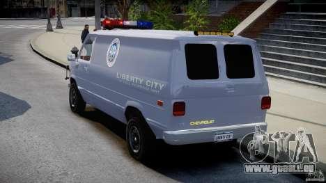 Chevrolet G20 Police Van [ELS] für GTA 4 hinten links Ansicht