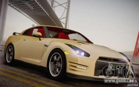 Nissan GTR Egoist pour GTA San Andreas vue intérieure