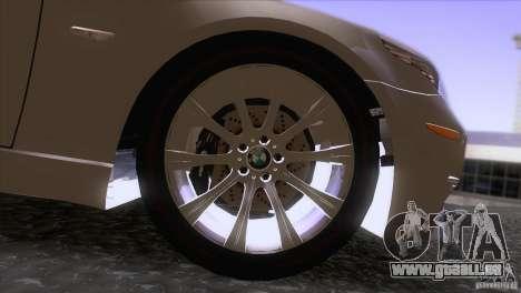 BMW M5 2009 pour GTA San Andreas vue de côté