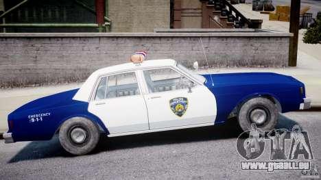 Chevrolet Impala Police 1983 pour GTA 4 est un côté