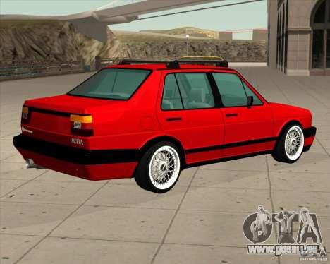 Volkswagen Jetta 1987 Eurostyle für GTA San Andreas linke Ansicht