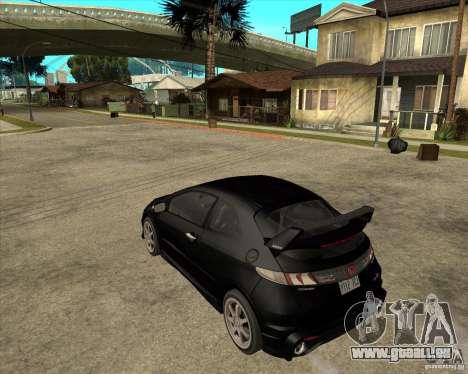 2009 Honda Civic Type R Mugen Tuning pour GTA San Andreas laissé vue